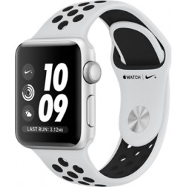 Apple Watch Nike+ Series 3 GPS 42mm Silver Aluminum w. Pure Platinum/BlackSport B. (MQL32)