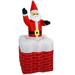 Надувной Дед Мороз в дымоходе 1,5 м