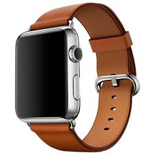 Apple Watch Series 2 42mm Stainless Steel Case with Saddle Brown Classic Buckle Band (MNPV2)