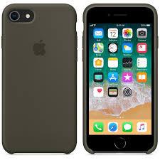 Чехол силикон iPhone 7 /8 dark olive