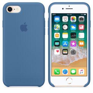Чехол силикон iPhone 7 /8 denim blue
