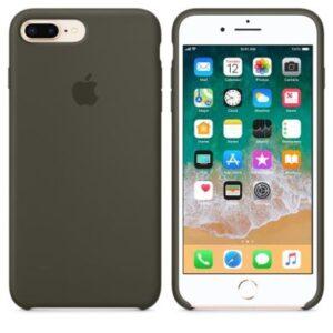 Чехол силикон iPhone 7 Plus /8 Plus dark olive