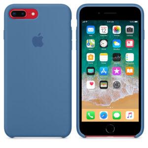 Чехол силикон iPhone 7 Plus /8 Plus denim blue