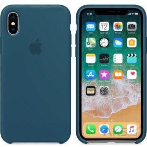 Чехол силикон iPhone XS cosmos blue