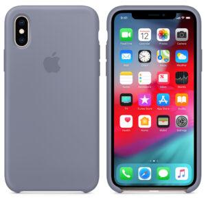 Чехол силикон iPhone XS lavender