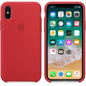 Чехол силикон iPhone XS red
