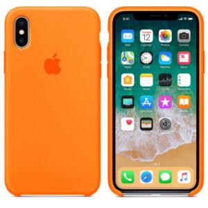 Чехол силикон iPhone XS spicy orange
