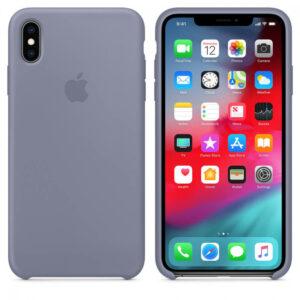 Чехол силикон iPhone XsMax lavender