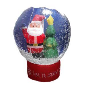 """Надувная новогодняя фигура шар """"Дед Мороз"""", высота 100 см"""