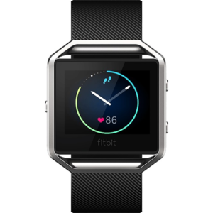 Умные часы с пульсометром и GPS Fitbit Blaze Black L Черный