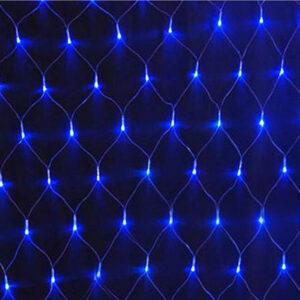 Гирлянда светодиодная 240 Сетка LED синий