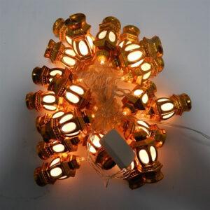 Гирлянда Уличный фонарь Золото LED 20