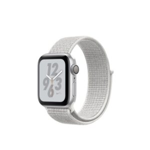 Apple Watch Nike+ Series 4 GPS 40mm Silver Alum. w. Summit White Nike Sport l. Silver Alum. (MU7F2)