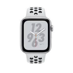 Apple Watch Nike+ Series 4 GPS 44mm Silver Alum. w. Platinum/Black Nike Sport b. Silver Alum. (MU6K2)
