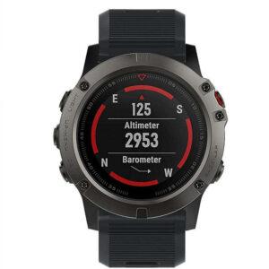 Спортивные часы GARMIN FENIX 5X SLATE GRAY SAPPHINE WITH BLACK BAND (010-01733-00)