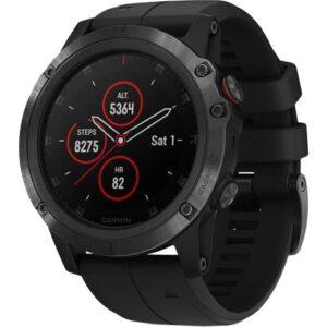 Спортивные часы Garmin Fenix 5x Plus Sapphire Black with Black Band (010-01989-00)